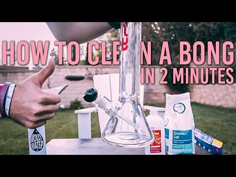 How to clean a bong - in 2 minutes