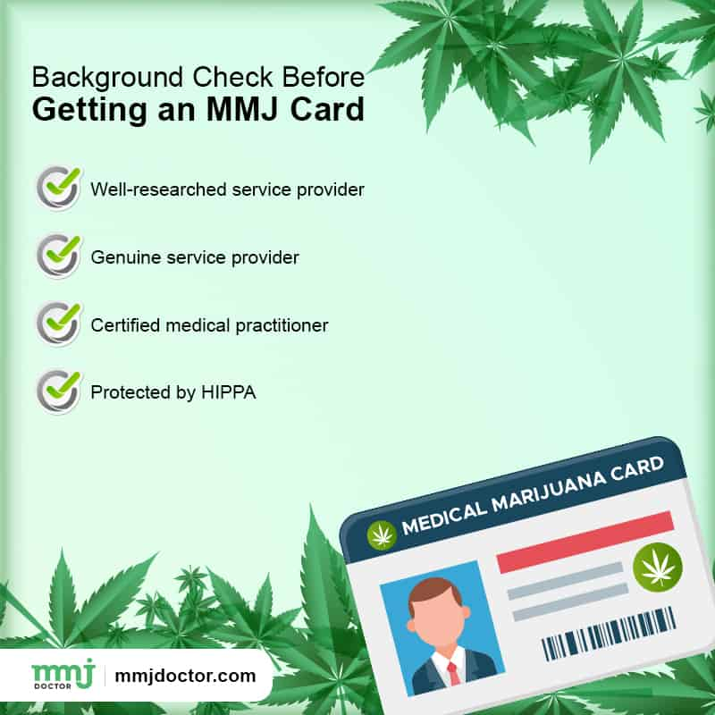 mmj card background check