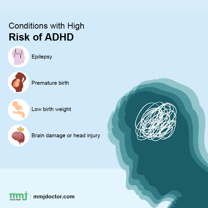 high risk conditions of adhd