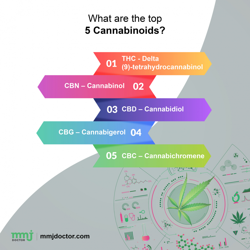 What are the top 5 Cannabinoids?
