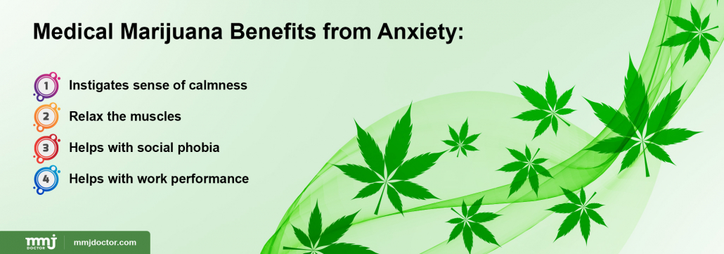 Marijuana benefits from anxiety