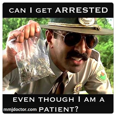 Can I get arrested even if i am a medical marijuana patient