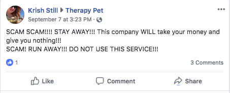 review of therapypet.org