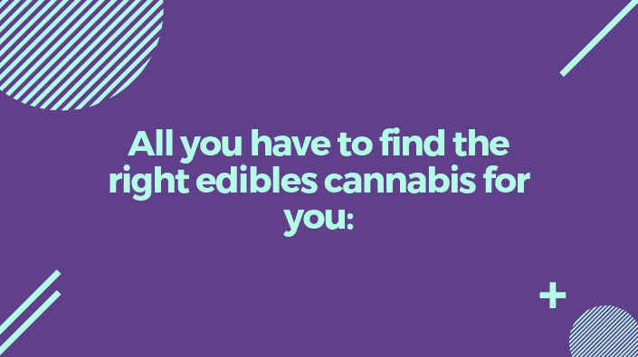 All you have to find the right edibles cannabis for you:
