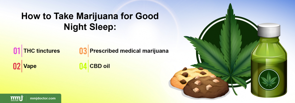 ways to take marijuana for good sleep