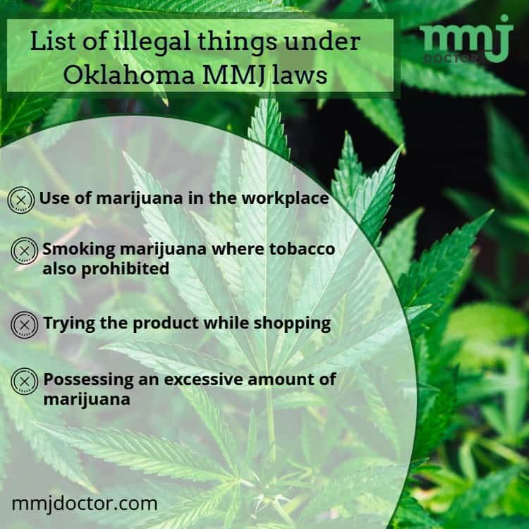 Illegal things under Oklahoma MMJ laws